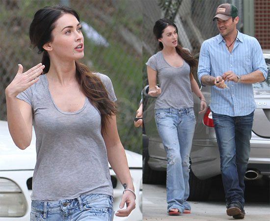 Photos of Megan Fox and Brian Austin Greene in LA 2009-11-05 20:42:32