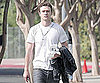 Slide Photo of Justin Timberlake on Set of The Social Network In LA