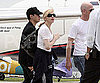 Slide Photo of Madonna Getting Off Plane in Brazil