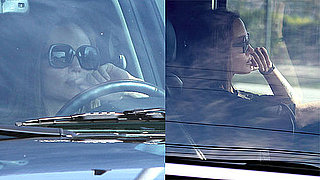 Photos of Angelina Jolie Driving in LA