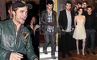 Photos of Robert Pattinson, Kristen Stewart, and Taylor Lautner in Paris For New Moon