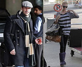 Photos of Jon Hamm and January Jones at the Airport