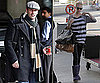 Photos of January Jones and Jon Hamm at LAX and Vancouver Airport