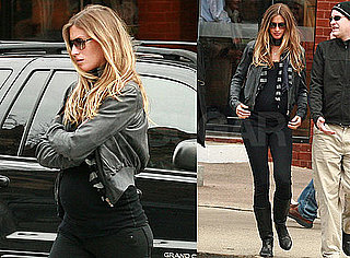Photos of Pregnant Gisele Bundchen Getting Lunch in Boston
