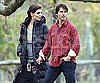 Slide Photo of Katie Holmes and Tom Cruise on Set in Long Island