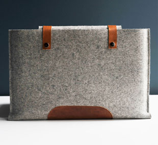 Byrd & Belle Felted Merino Wool Laptop Sleeve