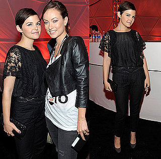 Ginnifer Goodwin Attends U2's Concert Wearing All Black Lace