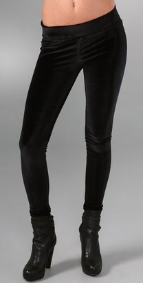 Affordable Black Velvet Leggings