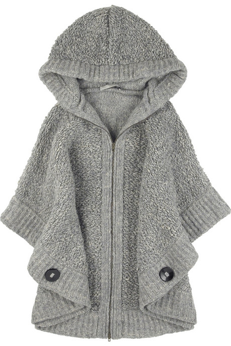 Stella McCartney Oversized Chunky Knit Cape