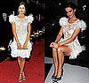 Katy Perry and Camilla Bella Wear Marchesa&#039;s White Feather Dress 2009-11-06 13:00:22