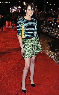 Kristen Stewart Attends London Premiere of New Moon in Colorful Proenza Schouler Spring 2010 Dress 2009-11-11 12:20:00