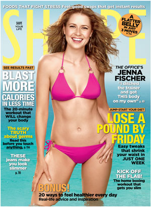 Jenna Fischer on the Cover of Shape Magazine
