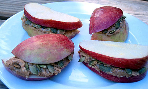 Snack Attack: Apple, Peanut Butter, and Pumpkin Seed Stacks