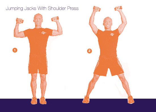 Jumping Jacks With Shoulder Press