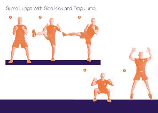 Sumo Lunge With Side Kick and Frog Jump