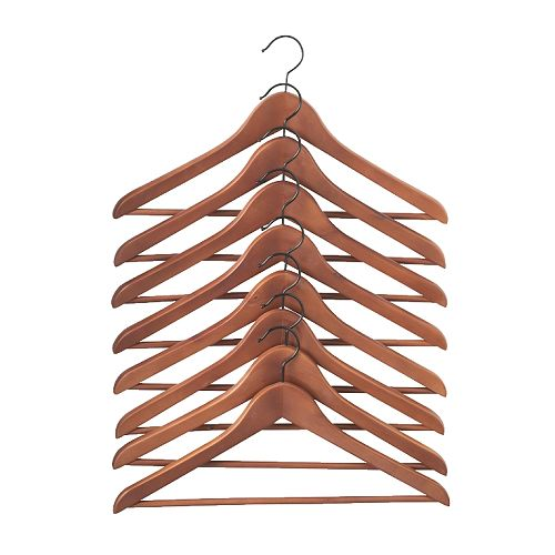 Replace Old Hangers With Sturdy Wooden Ones