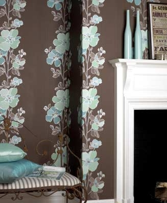 The wallpaper is Graham & Brown's Traviata Wallpaper ($60), and would look fab in any modern home.