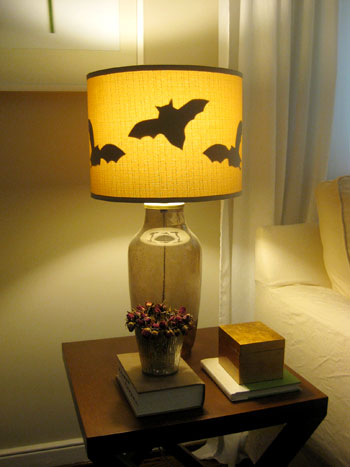 This Young House shows you an easy way to add some Halloween flavor to your table lamps.