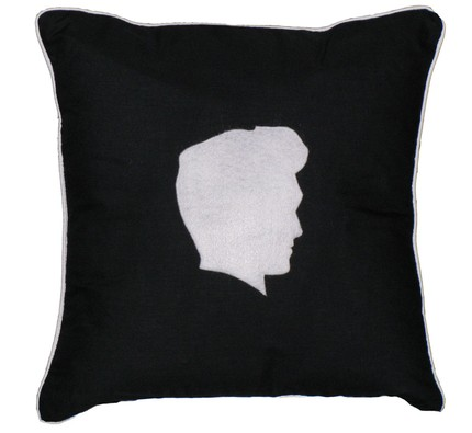Rest your head on Edward's with this Silhouette Pillow ($35), appliqued on black cotton.