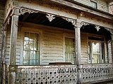 If your house isn't a creepy old Victorian, fake it with this Victorian Porch Photo ($18).