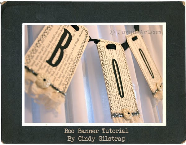 Joli Paquet helps you to craft a cute boo banner.