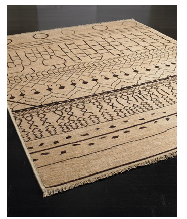 Athens Tale ($1,499 and up) is a hand-knotted wool rug whose neutral color palette and ancient, pictogram-like patterning are absolutely crave worthy.