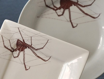 Take a bite from a dessert that's displayed on one of these set of 4 spider plates ($35).