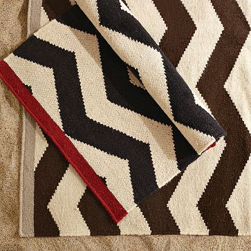 I've long been a fan of this flat weave west elm Zigzag Rug ($39 and up). It offers an affordable version of the Madeline Weinrib Zig Zag Rug.