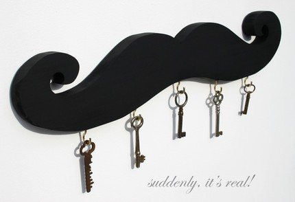 Display antique keys on a Moustache Key Holder ($40) and create instant art.