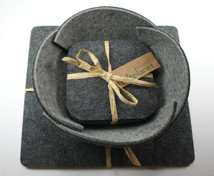 Keep your dad's desk looking hip with a Felt Desk Set ($50). Made from thick 5mm Virgin Merino Wool Felt, the set includes a mousepad, a catch-all bowl, and four coasters.