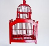 If you're onto the birdcage trend, this vibrant Cherry Red Birdcage Chandelier ($80) is charming and will cast beautiful shadows.
