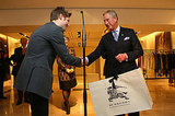 Prince Charles Visits Burberry HQ in London with Christopher Bailey