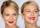 Drew Barrymore Makeup, Drew Barrymore Lipstick, Drew Barrymore Blonde