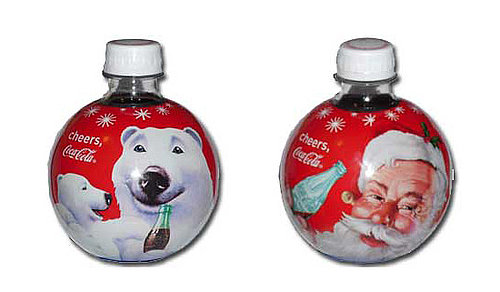 2009 Coca-Cola Round Holiday Ornament Bottles