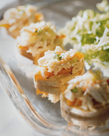 Crab Salad Canape Recipe
