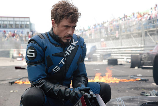 A pensive Stark on the race track.