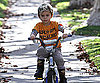 Slide Photo of Kingston Rossdale Riding a Bike in LA