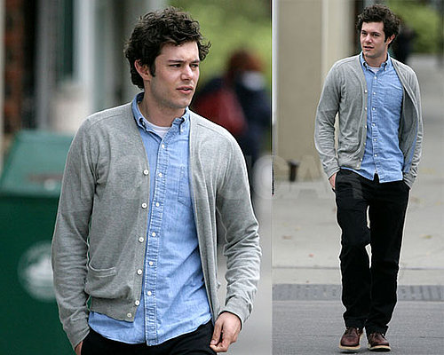 Adam Brody Goes For a Walk in Long Island While on a Break From The Romantics