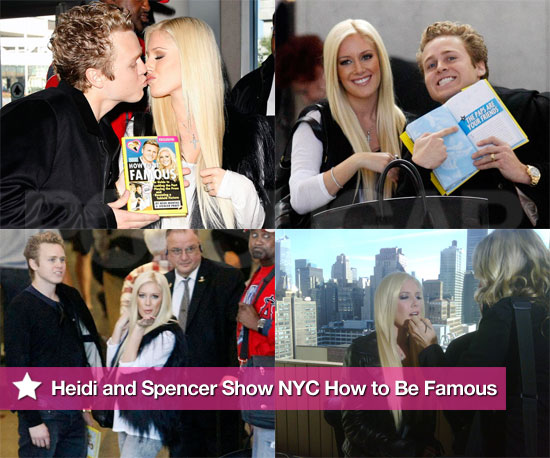 "Photos of Heidi Montag And Spencer Pratt Heading to NYC to Promote Their ""How to Be Famous"" Book"