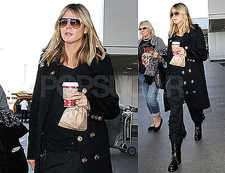 Photos of Heidi Klum Landing At LAX After Hosting Victoria's Secret Runway Show