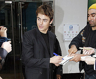 Slide Photo of Zac Efron Signing Autographs in London