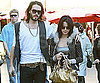 Slide Photo of Russell Brand and Katy Perry at The Grove in LA
