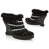 Love It Or Hate It: Fur trim and studded wedge heel boots $69.50