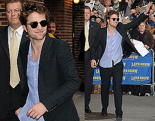 Photos of Robert Pattinson Promoting New Moon on The Late Show