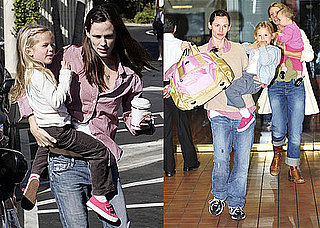 Photos of Jennifer Garner, Seraphina Affleck, And Violet Affleck Together in LA 2009-11-16 10:30:00