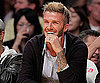 Slide Photo of David Beckham at Lakers Game in LA