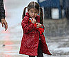 Slide Photo of Suri Cruise in the Rain in Boston