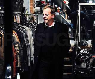 Slide Photo of Kiefer Sutherland At Motorcycle Store in NYC