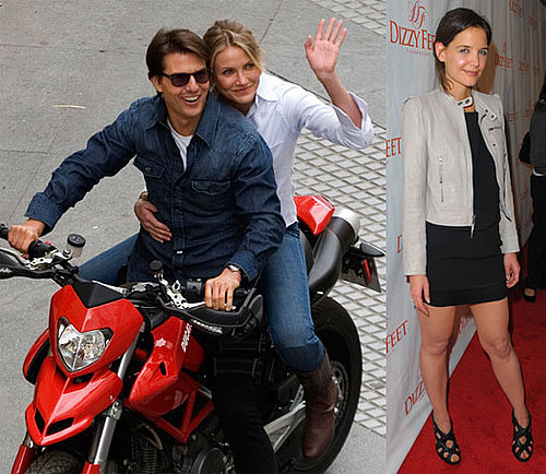 Photos of Katie Holmes at The Dizzy Feet Foundation's Ball; Tom Cruise And Cameron Diaz Filming Knight and Day in Spain