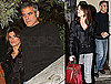 Photos of George Clooney and Elisabetta Canalis Out to Dinner in LA